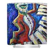 The Acid Jazz Jam Piano Shower Curtain