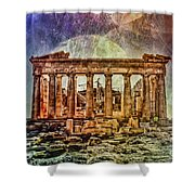 The Acropolis Of Athens Shower Curtain