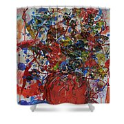 The Acrylic Bouquet  Shower Curtain