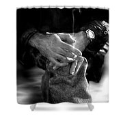 The Actor's Interview Shower Curtain
