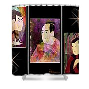The Actors Sawamura-otani Oniji And Ichikawa Yaozo Shower Curtain