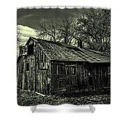 The Adirondack Mountain Region Barn Shower Curtain