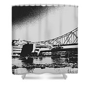 The Admiral And President's Casino In Ink Stamp Shower Curtain