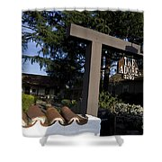 The Adobe Santa Clara California Shower Curtain