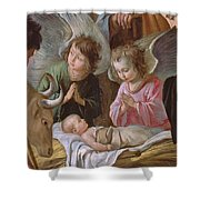 The Adoration Shower Curtain by Le Nain