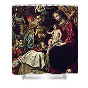 The Adoration Of The Magi, 1620 Oil On Canvas Shower Curtain