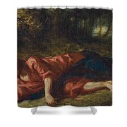 The Agony In The Garden Shower Curtain