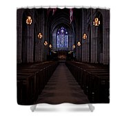 The Aisle Of Princeton Chapel Shower Curtain
