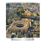 The Alhambra Aerial Shower Curtain