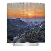 The Alhambra And Granada At Sunset Shower Curtain