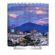 The Alhambra And Granada Shower Curtain