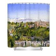 The Alhambra Granada Shower Curtain