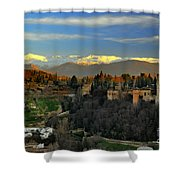 The Alhambra Palace Granada Spain Shower Curtain