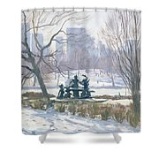 The Alice In Wonderland Statue, Central Park, New York Shower Curtain