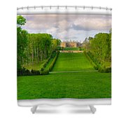 The Allee And The Castle Shower Curtain