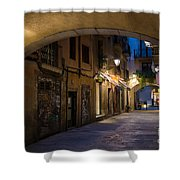 The Alley- In Beautiful Barcelona Shower Curtain
