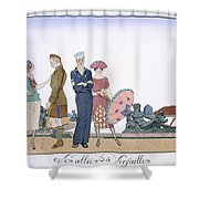 The Allies In Versailles Shower Curtain