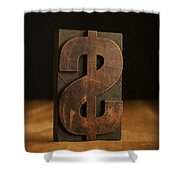 The Almighty Dollar Shower Curtain by Edward Fielding