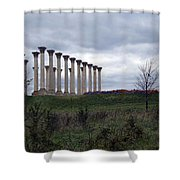 The Almost Forgotten Columns -- 2 Shower Curtain