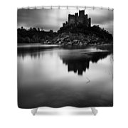 The Almourol Castle Shower Curtain by Jorge Maia