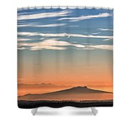 The Alps Sunset Over Fog Shower Curtain