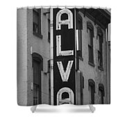 The Alva - Black And White Shower Curtain