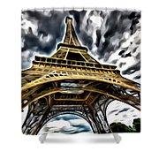 The Amazing Eiffel Shower Curtain