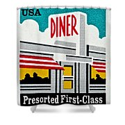 The American Diner  Shower Curtain