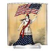 The American Flag A New National Lyric Shower Curtain