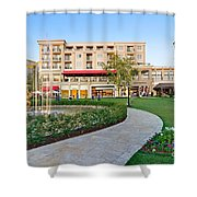 The Americana At Brand Outdoor Shopping Mall In California. Shower Curtain