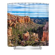 The Amphitheater At Farview Point Shower Curtain