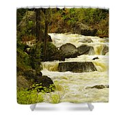 The Amsden River Wyoming Shower Curtain