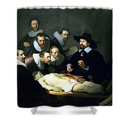 The Anatomy Lesson Shower Curtain
