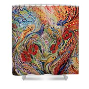 The Anemon Flowers Shower Curtain