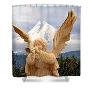 Sounds Of The Angel  Shower Curtain