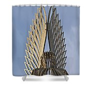 The Angel Of Bargoed 4 Shower Curtain