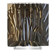 The Angel Of Bargoed Abstract Shower Curtain