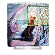 The Angel Of February Shower Curtain
