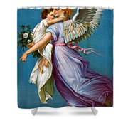 The Angel Of Peace Shower Curtain by B T Babbitt