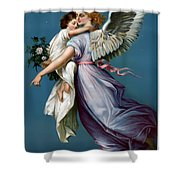 The Angel Of Peace Shower Curtain