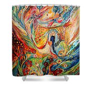 The Angels On Wedding Triptych - Center Shower Curtain