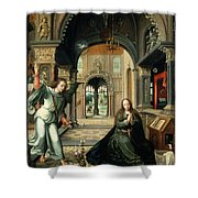 The Annunciation, Early 16th Century Shower Curtain