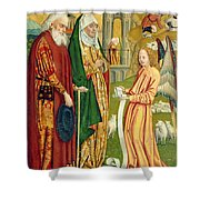 The Annunciation To Joachim And Anne, From The Dome Altar, 1499 Shower Curtain