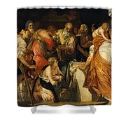 The Anointment Of David Shower Curtain