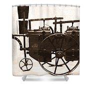 The Antique Farming Machine  Shower Curtain