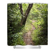 The Appalachian Trail Shower Curtain by Debra and Dave Vanderlaan