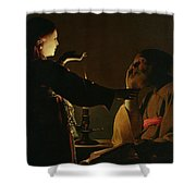 The Appearance Of The Angel To Saint Joseph Shower Curtain
