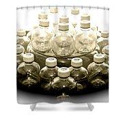 The Apple Bottle Shower Curtain
