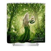 The Apple Fairy Shower Curtain
