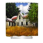 The Apple Tree On The Hill Shower Curtain